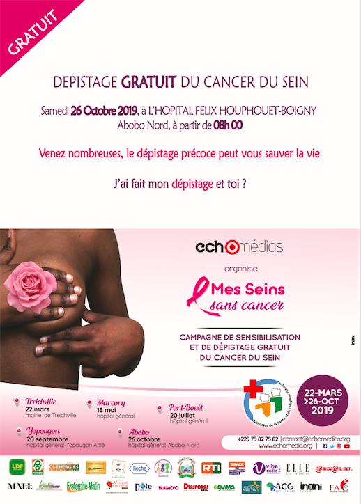 campagne de sensibilisation et de dépistage précoce « Mes Seins sans cancer »