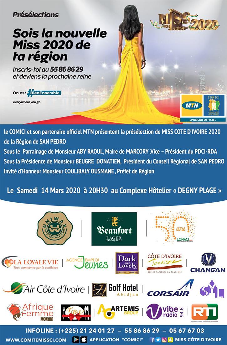 Miss CI 2020 - Région de San Pedro