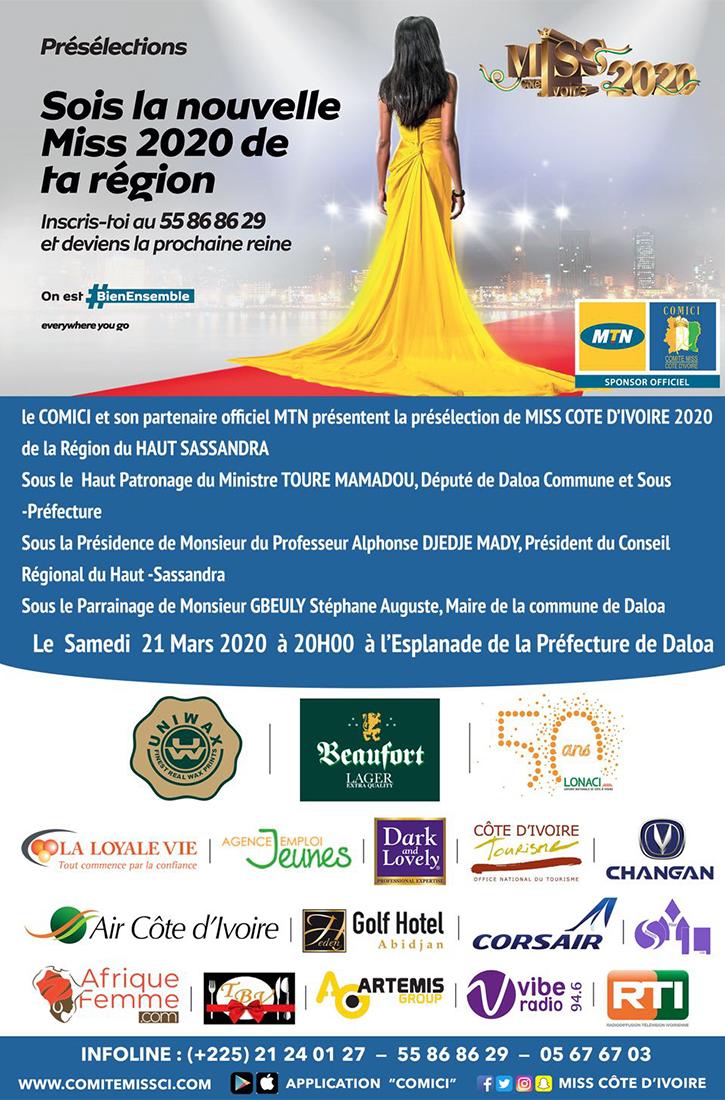 Miss CI 2020 - Présélection de la région du Haut Sanssandra