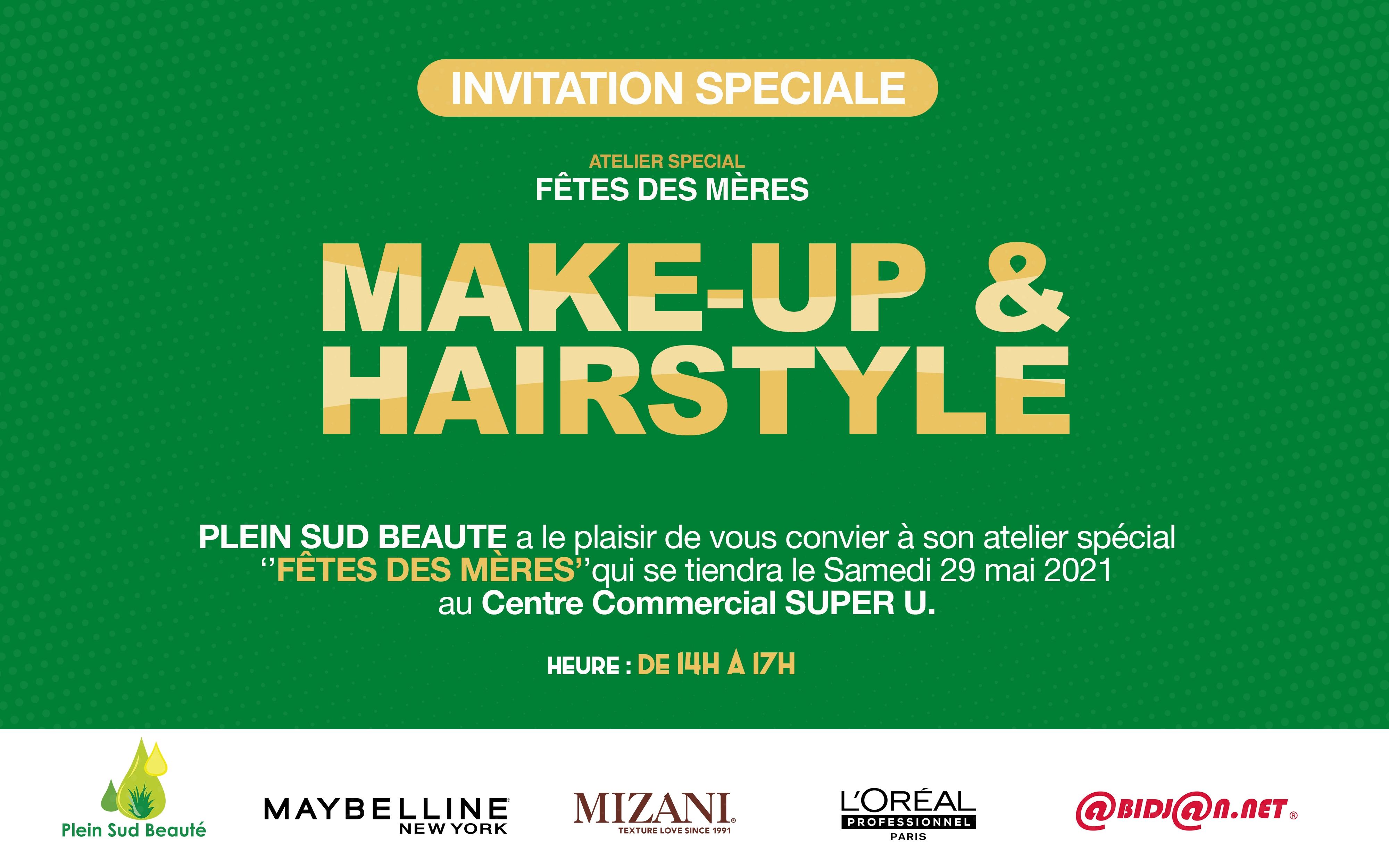 Atelier spécial ''FÊTES DES MÈRES'' (Make-up & Hairstyle)