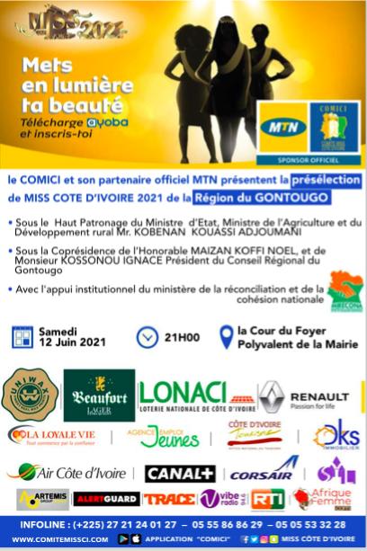 Présélection Miss Côte d'Ivoire 2021 de la Région du Gontougo