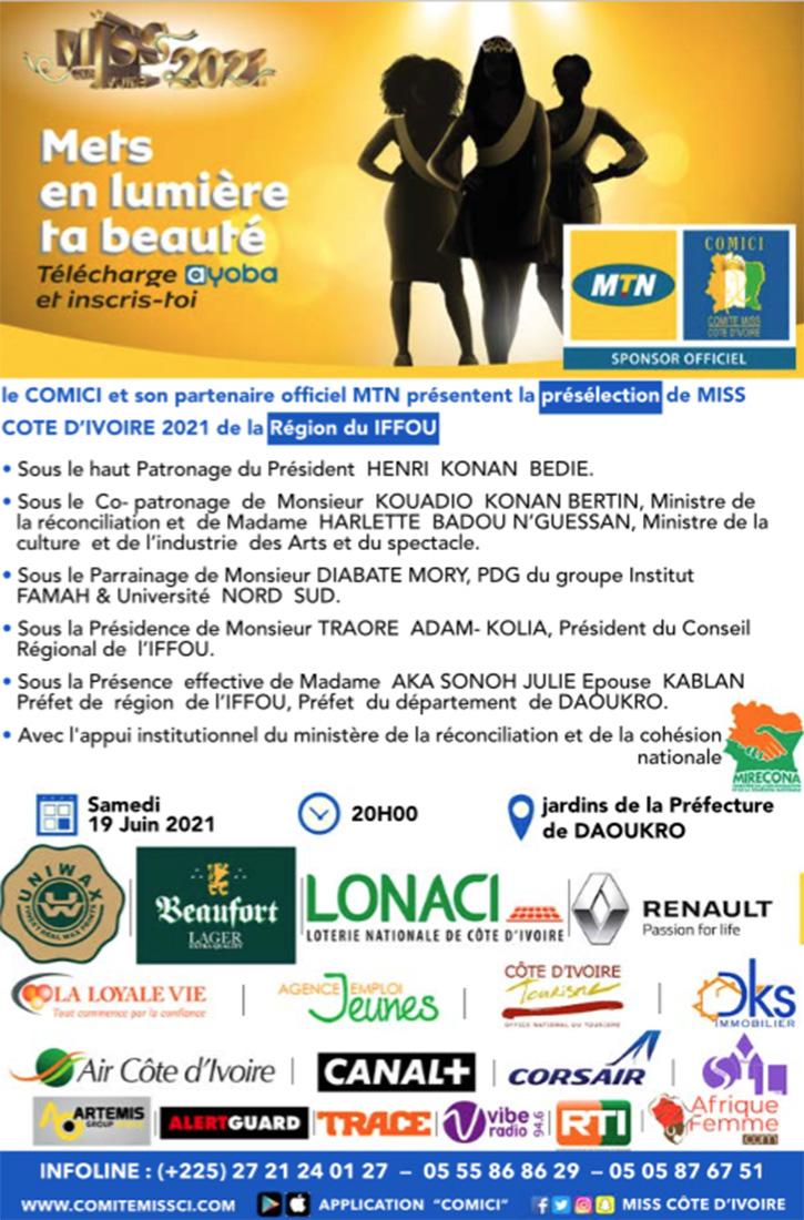 Miss CI 2021: Présélection de la Région du Iffou