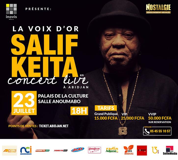 La Voix d'Or SALIF KEITA en Concert Live à Abidjan
