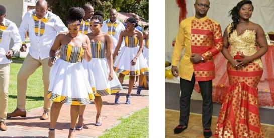 Le mariage en une tenue pagne, une belle initiative!