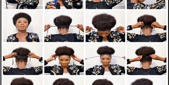 Idée de coiffure: L`afro Puff
