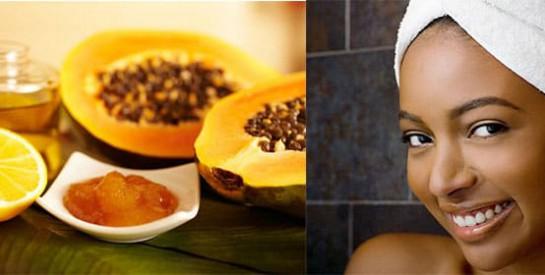 masque de papaye pour se d barrasser des taches sur le visage. Black Bedroom Furniture Sets. Home Design Ideas