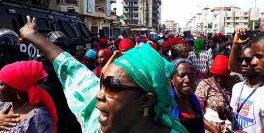 Guinée: marche des femmes de l`opposition contre les violences policières