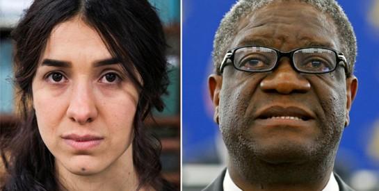 Nadia Murad et Denis Mukwege: deux Nobel contre les violences faites aux femmes