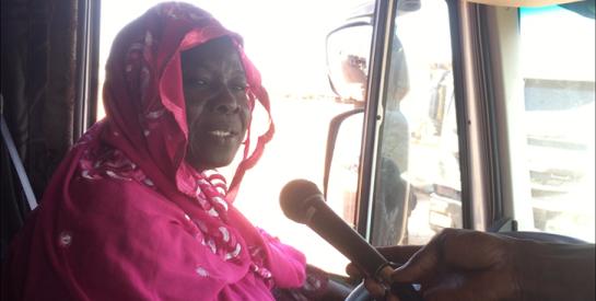 Mama Africa, la seule femme conductrice de poids lourds en Afrique de l'Ouest