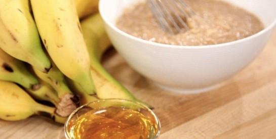 Masque à la banane et huile d`amande pour réparer mes cheveux secs