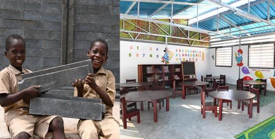 UNICEF construit des salles de classe faites de plastique recyclé pour 450 élèves