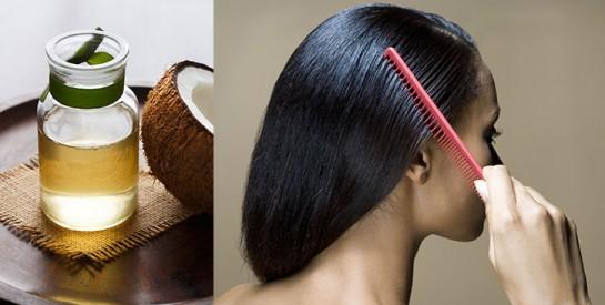 Soin maison à l'huile de noix de coco et au romarin pour stimuler la pousse des cheveux