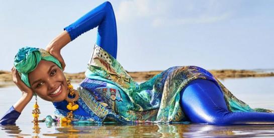 Halima Aden : la première mannequin à poser en burkini et hijab de sport