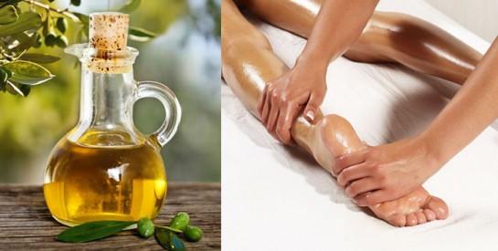 Remède à l`huile d`olive contre les sensations de brûlure aux pieds