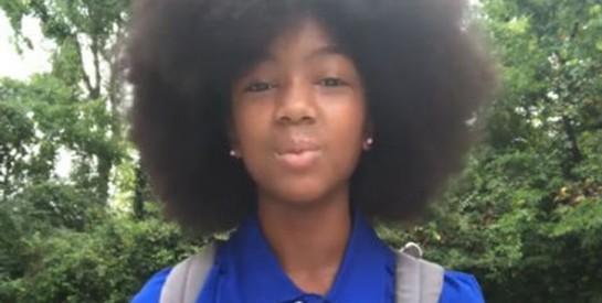 Moquée pour sa coupe afro, une fillette de 10 ans livre un message inspirant