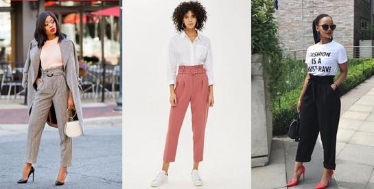 Des idées de styles pour bien porter le pantalon paper bag