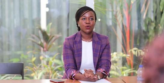 Maître Jessica Aya Nanou, nouvelle présidente de l`Association des Jeunes Avocats (AJA) de Côte d`Ivoire