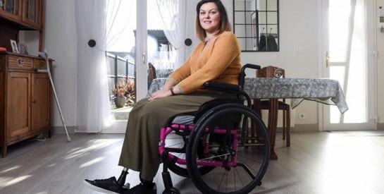 Sandrine, 36 ans, amputée après un choc toxique lié à une cup menstruelle