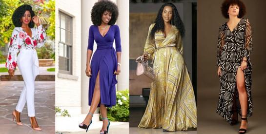 La robe portefeuille ou la robe cache-cœur : voici comment la porter avec élégance