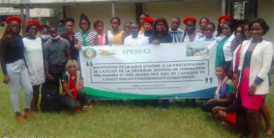 Atelier de restitution : l'AFAO et APESS-CI, les ONG Lionnes d'Afrique et CDCCI face au changement climatique