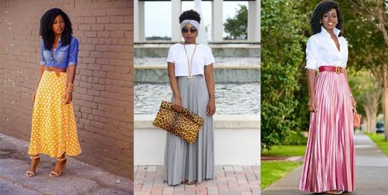 Nos idées pour porter une jupe longue
