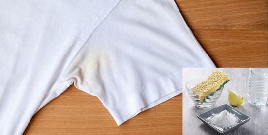 4 astuces pour enlever les taches de sueur sur un vêtement