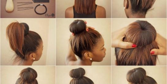 Modèle de coiffure : le chignon bun