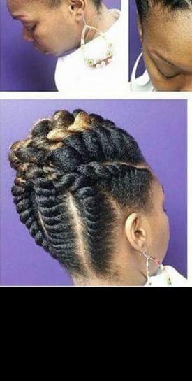 Inspiration de coiffure: les Flat twists